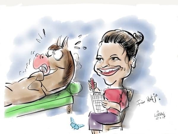 Pferde auf die Liege - psychische Probleme sind häufig die Ursache für körperliche Symptome bei Pferden